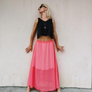 Maxi krilo Peach / Maxi skirt Peach